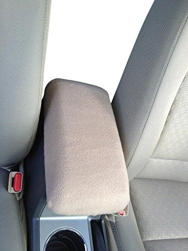 - Auto Console Covers- Compatible with the Mercury Sable 2001-2005 Center Console Armrest Cover Fleece Fabric - Taupe