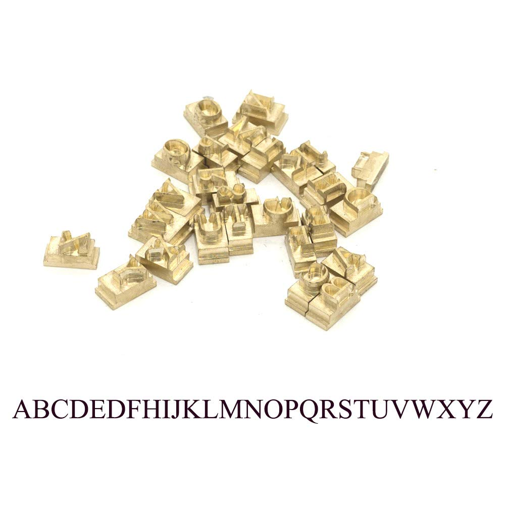 Custom Made Brass Alphabet Letter Changeable Mould Stamp Leather Craft Seal Tool 26pcs/Set (Capital Letters (A~Z), Times New Roman Font)