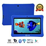 Independance Day [Upgraded] Contixo K1 HD 7' Kids Tablet with Durable Protection Case, Pre-Installed Games Android 6.0 Bluetooth WiFi Dual Cameras Parental Control for Children Dark Blue
