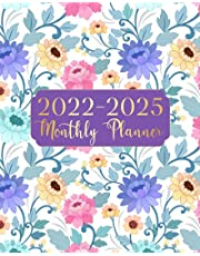 2022-2025 Monthly Planner: 4 Year Calendar 2022-2025 Monthly Planner 48 Months Agenda Schedule Organizer And Appointment Notebook with Federal Holidays, Motivational and Inspirational Quotes (Purple Floral For Women)
