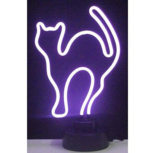 Neonetics Indoor Decoratives Purple Cat Neon Sculpture