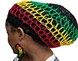 3pcs Queen African Africa Light Weight Woman Earrings W/Rasta Hair Net Black, Red, Yellow, Green