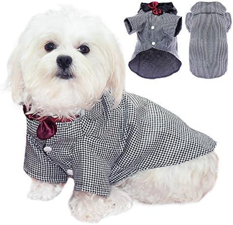 Algodón elegante Pet Esmoquin Traje Perro Pet perrito Ropa camisa de esmoquin traje lazo elegante boda Apparel: Amazon.es: Productos para mascotas