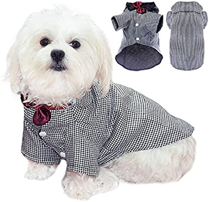Algodón elegante Pet Esmoquin Traje Perro Pet perrito Ropa camisa ...