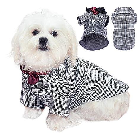 Algodón elegante Pet Esmoquin Traje Perro Pet perrito Ropa ...