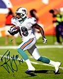 Autographed Ted Ginn Jr 8x10 Miami Dolphins Photo
