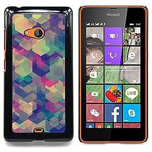 For Nokia Lumia 540 Case , Teal Beige Modelo púrpura calma - Diseño Patrón Teléfono Caso Cubierta Case Bumper Duro Protección Case Cover Funda