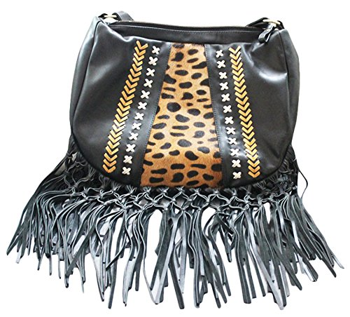 11sunshop BAG-MASELA - Bolso de asas para mujer Negro negro M