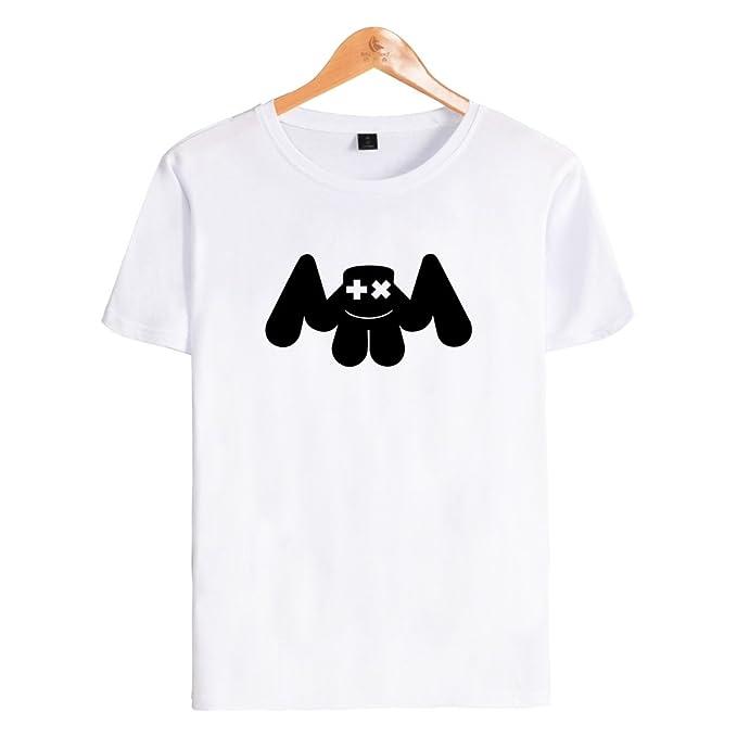 SIMYJOY Niños T-Shirt DJ Cara Sonriente Fans Camiseta Manga Corta Sonido eléctrico Top Cool Camiseta para niños niñas Adolescentes
