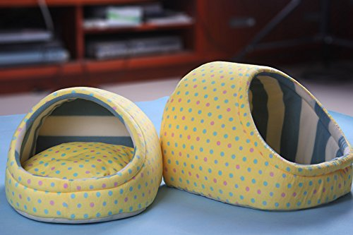 M(253436) Elete Hengsong Soft Warm Pet Dog Cat Cotton Dog House   Bed   kennel   Cushions   Cages Kennel Cart (M(253436))