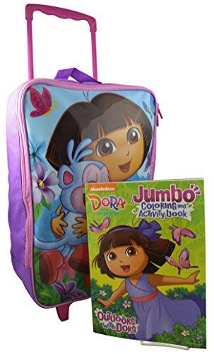 Nickelodeon Dora the Explorer Rolling Pilot Case Luggage with Bonus Coloring Book - 17