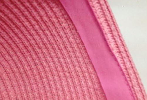 Fablcrew Kids Hat Beach Cap Bear Hat Girls Soft Straw Cap Cat Ears Sun Hat For Child Outdoor Pink