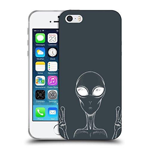 GoGoMobile Coque de Protection TPU Silicone Case pour // Q10030606 téléphone alien 2 Arsenic // Apple iPhone 5 5S 5G SE