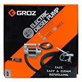 GROZ 12V DC Portable Diesel Transfer Pump -Base