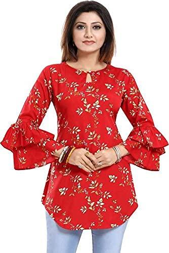 Hemang Fashion Woman Flower Printed Tunic Top