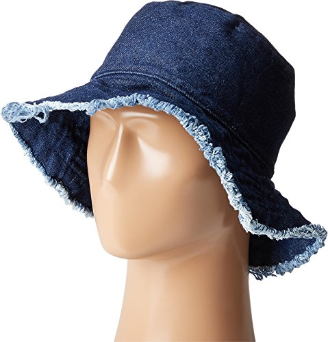 Hat Attack Women's Frayed Edge Crusher Hat, Dark Denim, Blue, One Size ()
