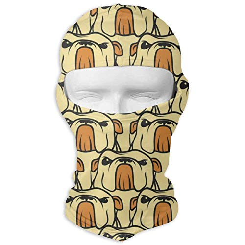 - JJKYL English Bulldog Pattern Seamless Vector Full Face Mask Hood Sunscreen Mask Cycling Hunting Hiking Skiing Mask Dual Layer Cold for Men and Women