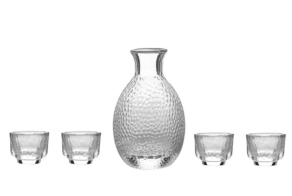 KCHAIN 5 in 1 Glass Sake set (Transparent Glass)