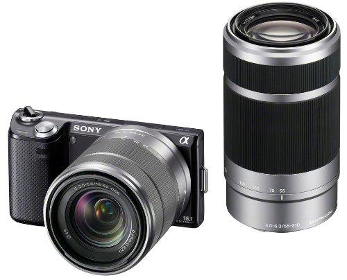 ソニー SONY ミラーレス一眼カメラ α NEX-5N ダブルズームレンズキット ブラック NEX-5NY/B