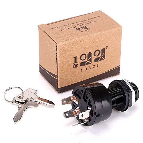 - 10L0L Ignition Key Switch Precedent 1025151 Common Key for Club Car Golf Car 2004, 4-Pin