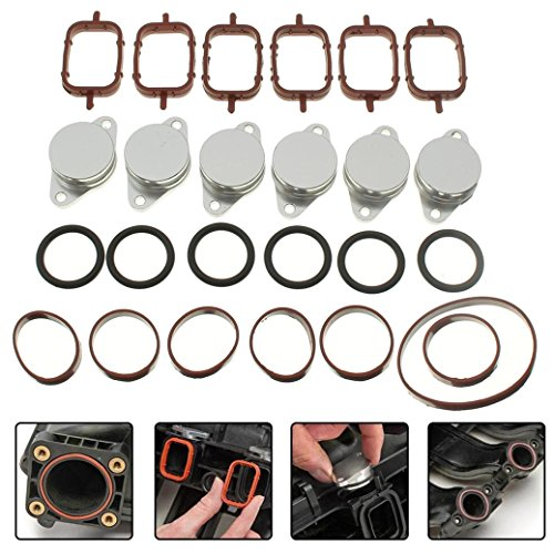 Dreamyth 25Pcs 6 x 32mm Swirl Flap Replacements Removal Blanks Manifold Gaskets For BMW by Dreamyth