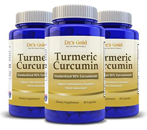 DR'S GOLD CURCUMA CURCUMINE Capsules - Acheter des risques gratuit! Antioxydant puissant - élimine les toxines - 100% naturel - Anti-inflammatoire - Prend en charge la santé des articulations et du foie - soulage la douleur arthritique et mixte - Aide à q