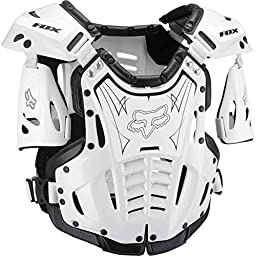 Fox Racing Airframe Men\'s Roost Deflector Off-Road Motorcycle Body Armor - White/Black / Small