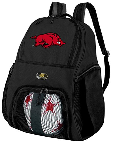 大学のアーカンソー州サッカーバックパックまたはArkansas Razorbacksバレーボールバッグ