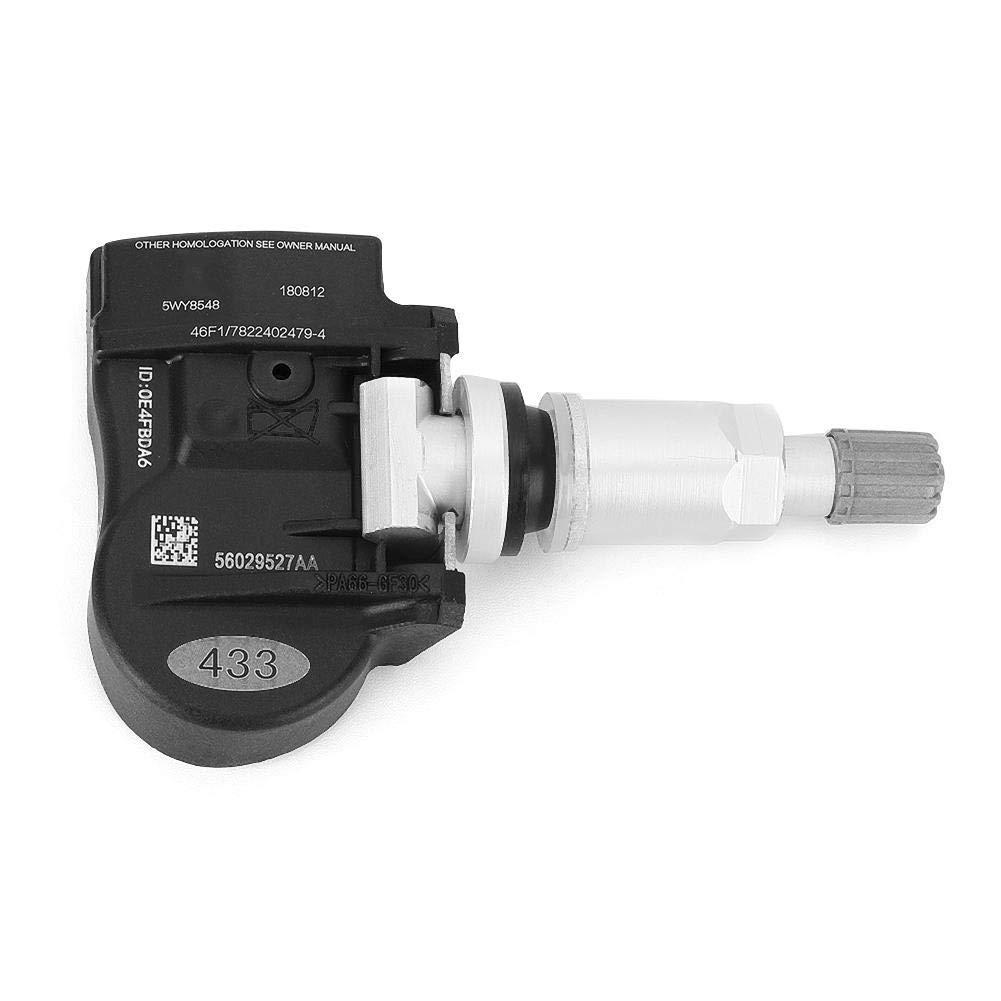 TOOGOO Tire Pressure Monitoring System Sensor,56029527Aa 4 Pcs for Tire Pressure Monitoring System Sensor TPMS Sensor 433MHz 68078768AA