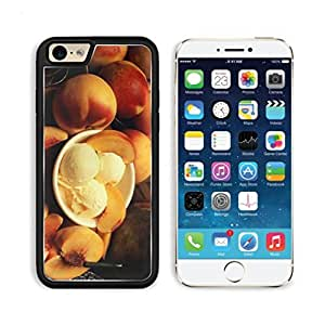 Peach Ice Cream Delicious Dessert Apple iPhone 6 TPU Snap Cover Premium Aluminium Design Back Plate Case Customized Made to Order Support Ready Luxlady iPhone_6 Professional Case Touch Accessories Graphic Covers Designed Model Sleeve HD Template Wallpaper Photo Jacket Wifi Luxury Protector Wireless Cellphone Cell Phone