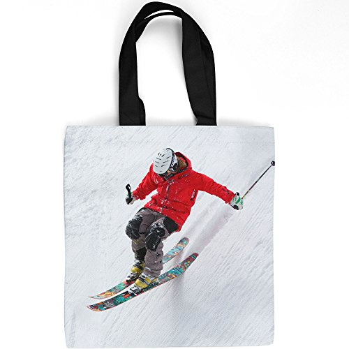 Westlake Art - Skiing Ski - Tote Bag - Picture Photography Shopping Gym Work - 16x16 Inch (Alpine Telemark Ski Bindings)