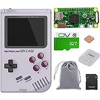 owootecc Retroflagga GPi-fodral med hallon Pi Zero W och 32G SD-kort för Raspberry Pi Zero och Zero W med säker…
