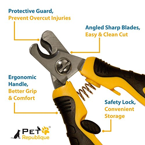 Pet-Republique--Professional-Dog-Nail-Clippers-Best-Cat-Puppy-Rabbit-Bird-Claws-Dog-Nail-Trimmer-Sharp-Durable-Angled-Blades-with-Protective-Guard-Safety-Lock-SL