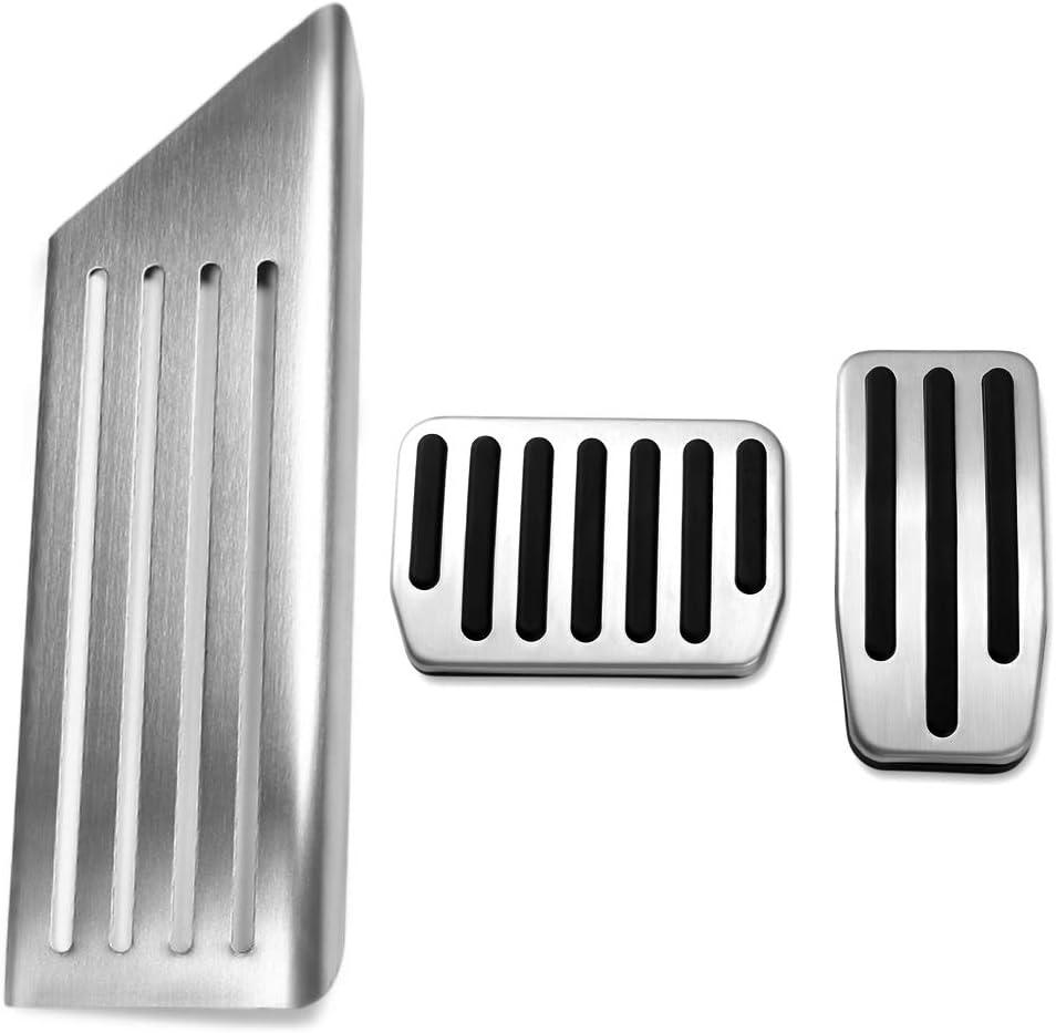 Whkobm Aluminiumlegierung Fußpedal Für Tesla Modell 3 Gas Gas Kraftstoff Bremspedal Rest Pedal Pads Matten Abdeckung Zubehör Car Styling Auto