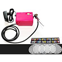 ABEST Salon Airbrush Nail art system compressor kit with airbrush Stencil