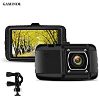 Gaminol Dash Cam Full HD 1080P 2.7 Inch IPS Screen Vehicle Recorder with Parking Monitor G-Sensor Super Night Vision and 120°Viewing Angle Include Two Different Mount