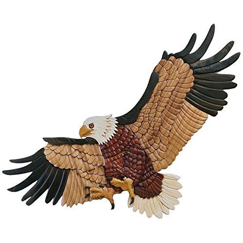 Intarsia Wall Hanging Decor - Landing Eagle