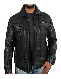 Laverapelle Men's Black Genuine Lambskin Leather Jacket - 1510378