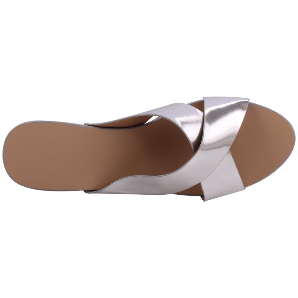 Unze Las mujeres 'Simpson' Crossover parte metálica se reúnen Carnaval sandalias de cuña zapatillas UK tamaño 3-8 hgsQD1a4MF