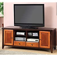 HOMES: Inside + Out ioHOMES Two-Tone Lyman TV Console, Oak/Cherry