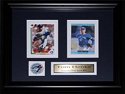 Amazon Com Tom Henke Toronto Blue Jays 2 Card Mlb Baseball Memorabilia Collector Frame Sports Outdoors