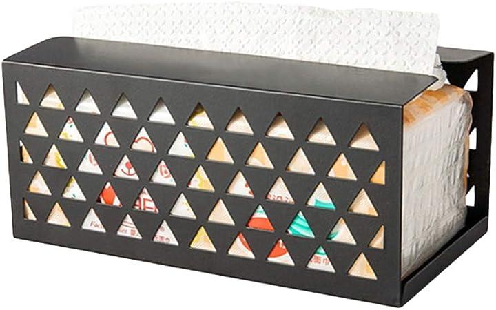 Caja de papel para servilletas, de hierro, para coche, hogar, oficina, escritorio: Amazon.es: Hogar