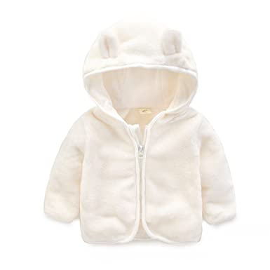 062ea0c1f7 Cystyle Unisex Baby Mädchen Junge Frühling Herbst Winter Fleecejacke Jacke  Kinderjacken mit Bären Ohren 0-2 Jahre: Amazon.de: Bekleidung