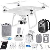 DJI Phantom 4 Quadcopter Drone w/ Hardshell Backpack + Spare Intelligent Flight Battery DigitalAndMore Bundle