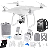 DJI Phantom 4 Quadcopter Drone w/ Hardshell Backpack + Spare Intelligent Flight Battery DigitalAndMore Bundle