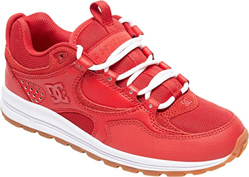 Dc Kalis Shoes - DC Women's Kalis Lite Skate Shoe, Red/White, 8 Medium US