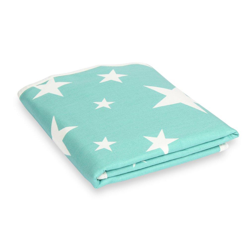 Fantasie Sterne blau, L - 60 x 75cm Wiederverwendbare Urin Matte Abdeckung Baumwolle Atmungsaktiv Wasserdicht Meisax Waschbar Wickelunterlage S/äugling f/ür Babys und Kleinkinder