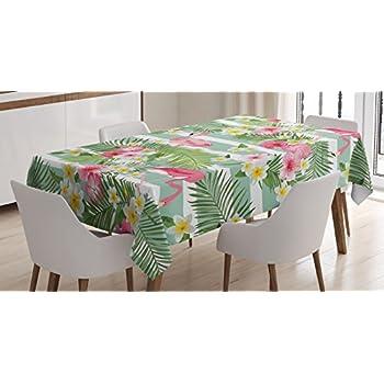 Amazon Com Hawaiian Tropical Fabric Tablecloth Hawaiian
