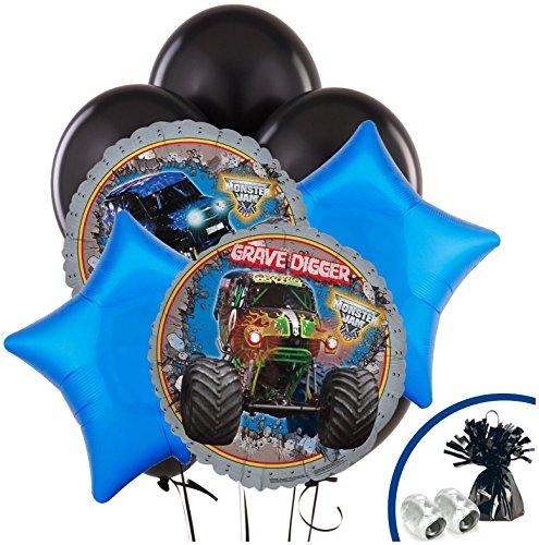 BirthdayExpress - Monster Jam 3D Balloon Bouquet - Multi-Colored]()
