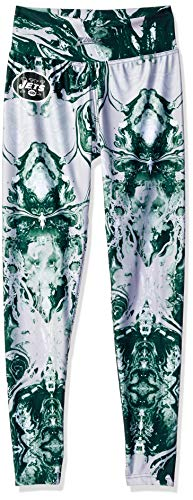 Zubaz NFL New York Jets Women's Swirl Leggings, Multicolor, Large